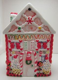 Colorful Gingerbread House Cookie Jar