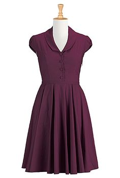 I <3 this Shawl collar A-line dress from eShakti