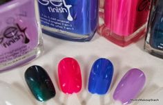 Avon Gel Finish Nail Enamels with Swatches