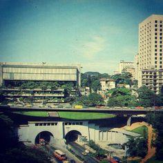 Masp and 9 de Julho tunnel (circa 1977-1980)  Sao Paulo / Brazil