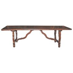 18th Century Walnut Refectory Table | From a unique collection of antique and modern dining room tables at https://www.1stdibs.com/furniture/tables/dining-room-tables/
