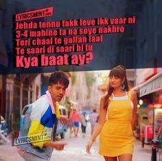 Kya Baat Ay By Harrdy Sandhu Romantic Song Lyrics Love Songs Lyrics Hardy Sandhu