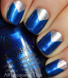 Chevron Moon Manicure #nailart China Glaze