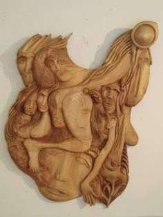 """Thinking"" wooden relief (finnish birch)100cm X 130cm"