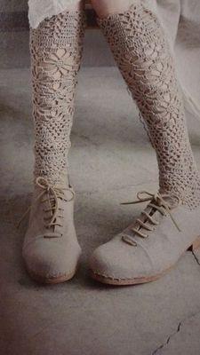 crochet socks and clogs