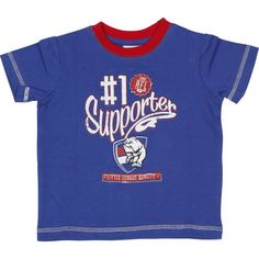 Western Bulldogs Infants' #1 T-Shirt $14.99 in sizes 000, 00, 0 & 1