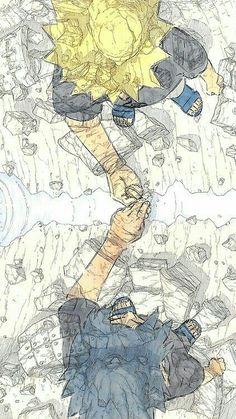 My favorite frienemies :-) Naruto & Sasuke Naruto Shippuden, Naruto Vs Sasuke, Sasuke Sakura, Sasunaru, Hinata, Art Naruto, Madara And Hashirama, Manga Naruto, Sarada Uchiha