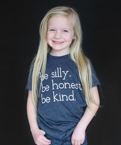 Look at this The Talking Shirt Navy 'Silly, Honest, Kind' Tee - Toddler & Kids on #zulily today!