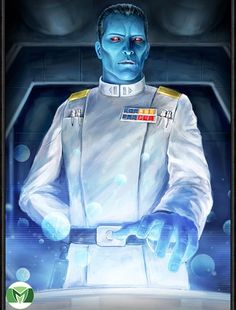 I edited the Star Wars Force Collection card of Grand Admiral Thrawn and made some special modifications so to create this fanart of the Chiss Imperial . Star Wars Concept Art, Star Wars Fan Art, Star Wars Planets, Grand Admiral Thrawn, Images Star Wars, Star Wars Jokes, Star Wars Wallpaper, Star Wars Poster, Star Wars Rebels