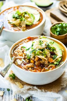 This slow cooker chicken tortilla soup makes a healthy and gluten free dinner that can be made easily during a busy week!