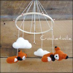 Mobile petit renard pour bebe par Crochetmilie sur Etsy