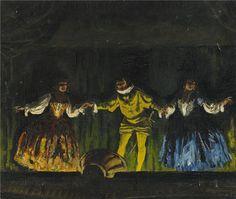 Geza Farago - Teaterscen. 1927