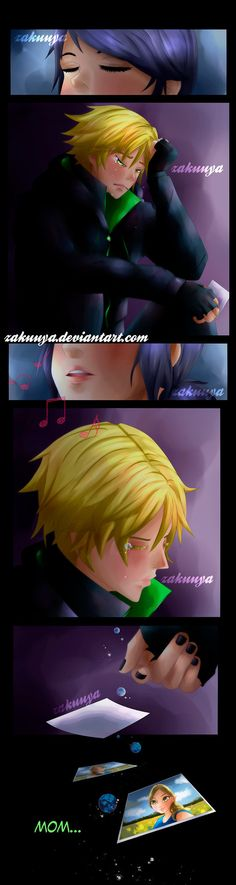 Sing me to sleep by Zakuuya.deviantart.com on @DeviantArt - Adrienette / Ladrien / Marichat from Miraculous Ladybug