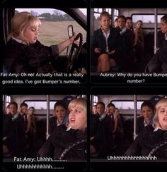 Fat Amy. And Anna Kendrick's face in the bottom right, trying to keep it together, haha.