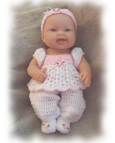 Cuddle Up Romper Crochet Pattern.  This is for big 15 inch baby doll.