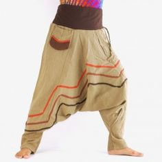 Pantalon sarouel - kaki