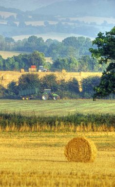 Harvest time in Herefordshire  photographic print by JohnRHickman, £16.50