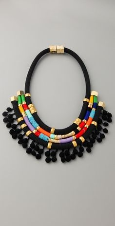 I really like the tribal feel of this necklace.