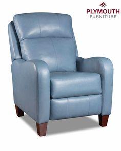 Southern Motion Prestige Hi-Leg Recliner Denim Light Blue Leather Hooker Furniture, Deco Furniture, Large Furniture, Furniture Ideas, Leather Recliner Chair, Transitional Frames, Contemporary Recliners, Wall Hugger Recliners
