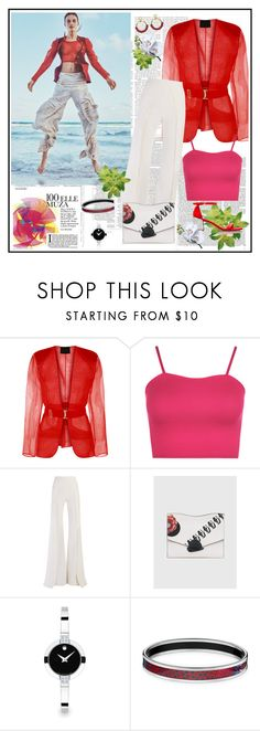 """SPRING 2017♥♥♥"" by marthalux ❤ liked on Polyvore featuring WearAll, Balmain, Proenza Schouler, Movado, Victoria Beckham, embellishedshoes and Spring2017"