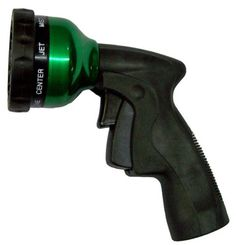 Water Nozzles - Pin it :-) Follow us :-)) zGardensupply.com is your Garden Supply Gallery ;) CLICK IMAGE TWICE for Pricing and Info :) SEE A LARGER SELECTION of water nozzles  at http://zgardensupply.com/category/garden-supply-categories/watering-equipment/water-nozzles/ - garden, gardening, gardening gear, garden tools  - Plastair SpringNozzle WN-G-4M-AMZ All metal 9-Pattern Spray Nozzle With Trigger Lock, Green « zGardenSupply