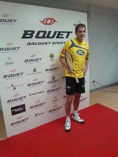 Juan Martín Díaz, número 1 del ranking mundial de pádel, no quiso perderse la presentación de Bquet