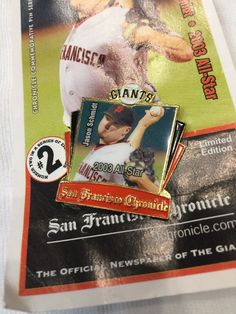 San Francisco Giants 2003 Champions Jason Schmidt Pin #sfgiants #Unbranded #SanFranciscoGiants