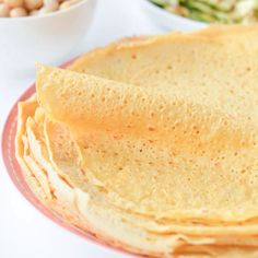 Vegan Chickpea flour Crepes 3 ingredients recipe perfect gluten free wraps with garbanzo bean flour 5 g net carbs small crepes Gluten Free Recipes Videos, Low Carb Recipes, Whole Food Recipes, Vegan Recipes, Cooking Recipes, Recipe Videos, Easy Recipes, Gluten Free Baking, Vegan Gluten Free