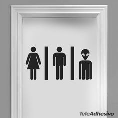 Stickers muraux WC Mixto 03 Wc Symbol, Toilet Symbol, Bathroom Stickers, Bathroom Signs, Wall Stickers, Trinity House, Wall Painting Decor, Amazing Street Art, Bathroom Pictures