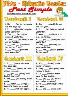A collection of English ESL worksheets for home learning, online practice, distance learning and English classes to teach about five-minute, tests, five-minu. Teaching English Grammar, English Grammar Worksheets, English Verbs, English Writing Skills, French Language Learning, Grammar Lessons, English English, Writing Lessons, German Language