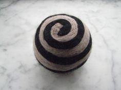 One multi-colored felted pin-cushion, Gray and Black by Dreamcrafter on Etsy