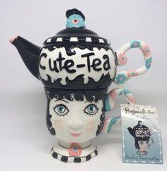 Personalit-Tea-Peggy-Turchette-Design-CUTE-TEA-Tea-for-One-Stacking-Teapot-Mug