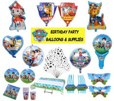 CHOOSE your PAW PATROL supplies from the list: - 30 inches Chase Balloon - 30 inches Marshall Balloon - 16 inches Happy Birthday Letters - 18 inches Paw Patrol Balloon - 18 inches Paw Patrol Balloon - 18 inches Paw Patrol Heart Balloon - 23 Balloon Clouds, One Balloon, Heart Balloons, Helium Balloons, Baby Shower Balloons, Balloon Garland, Peppa Pig Balloons, Mickey Mouse Balloons, Dinosaur Balloons
