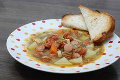 Fotorecept: Šošovicová polievka s restovaným párkom