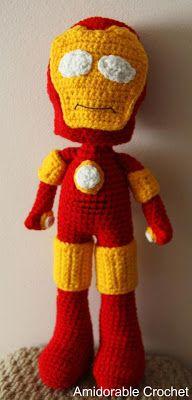 A[mi]dorable Crochet: Tony Stark...aka Iron Man!