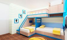 Bedroom Ideas: Triple bunk bed plans free perfect bunk beds with . Bunk Beds Small Room, Modern Bunk Beds, Cool Bunk Beds, Bunk Beds With Stairs, Kids Bunk Beds, Modern Bedroom, Modern Loft, Master Bedrooms, Loft Beds