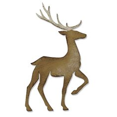 Sizzix - Tim Holtz - Alterations Collection - Christmas - Bigz Die - Prancing Deer at Scrapbook.com