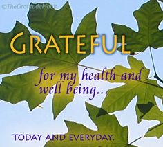 Thirty Days of Gratitude - Day 17: Grateful for Health
