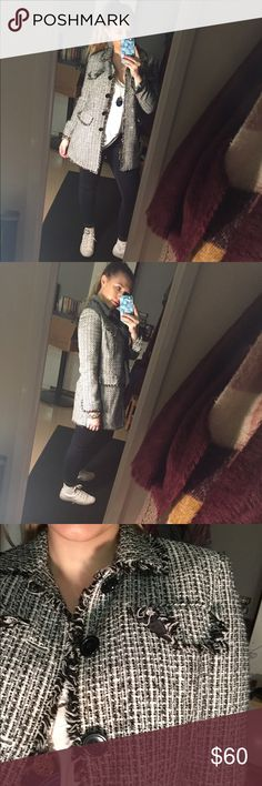 AMAZING Woven Fall Jacket CHANEL DUPE, not Chanel. But might as well could be. AMAZING jacket that's so street style forward you'll have people double taking. Worn ONCE, bought it because it reminded me of Chanel. CHANEL Jackets & Coats