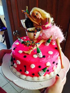 Drunk Barbie Cake!