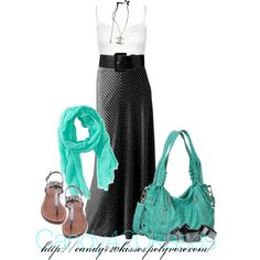 striped maxi, created by candy420kisses on Polyvore