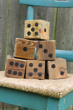 Yard Dice- rustic and perfect for an outdoor game of Yahzee or Farkle on Etsy, $42.00