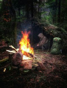 Warm up while taking some rest in my small shelter for the night. Double tap the image to show the love. Visit Survival Life TODAY for more bushcrafting facts and survival news. Bushcraft Skills, Bushcraft Gear, Bushcraft Camping, Camping Survival, Camping And Hiking, Outdoor Survival, Survival Prepping, Camping Hacks, Backpacking Gear