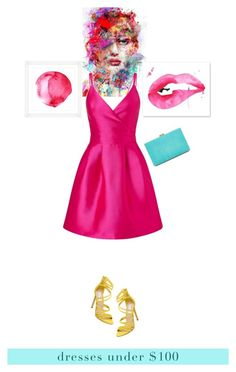 """Pink Night"" by keepfashion92 ❤ liked on Polyvore featuring Miss Selfridge, Vintage Print Gallery, Steve Madden and New Look"