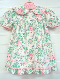 Vintage Toddler Clothes, Toddler Girl Dress, Pink Floral Toddler Dress, Shabby Chic Toddler Dress, Toddler Dress with Roses.# on Etsy, $18.00