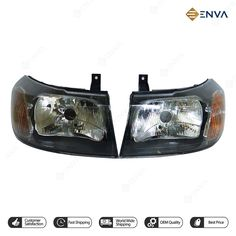 Pair (RH-LH ) Headlight , Headlamp with Motor for Ford Transit 2000 , 2006 Car Spare Parts, Car Parts, Cool Optical Illusions, External Lighting, Ford Transit, Oem, Camper, Classic Cars, Pairs