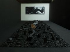 SINGAPORE — The centrepiece in Han Sai Por's ongoing exhibition Black Forest 2013 is quite arresting. You've got an installation comprising two charcoal logs on a bed of charcoal. One of these looks like a huge bone, the other revealing the slightest hint of brown, life peeking from the charred remains. It's a warning about the dangers of environmental destruction via deforestation.  While it's a continuation of the Cultural Medallion recipient's 2011 show at the Esplanade, the Sumatran haze…