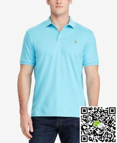Ralph Lauren Green Soft Mesh Long Sleeved Men Polo