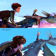 Hiccup carrying Astrid in his arms with Stormfly by their side from Dreamworks Dragons Race to the Edge. How To Train Your, How Train Your Dragon, Night Fury Dragon, Chesapeake Shores, Dragon Names, Hiccup And Astrid, Dreamworks Dragons, Dragon Trainer, Disney And More
