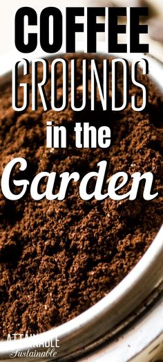 Are you composting coffee grounds? Or using them in the vegetable garden? Used coffee grounds are a great way to improve your garden soil. And good soil = better harvest! Toss the remains of your morning cup of Joe in the compost! #gardening